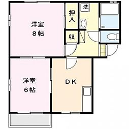 ロイヤルハイツ93 A棟[101号室号室]の間取り