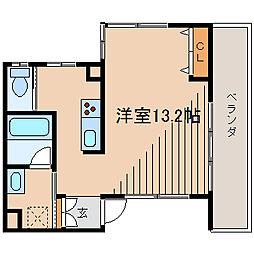 ヌエスペラン[2階]の間取り