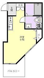 レスポアール鶴見[203号室]の間取り