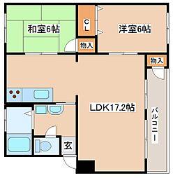 兵庫県神戸市垂水区神陵台4丁目の賃貸マンションの間取り