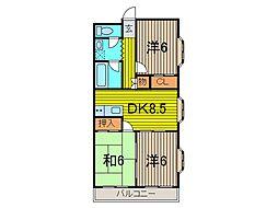 SKマンション12[2階]の間取り