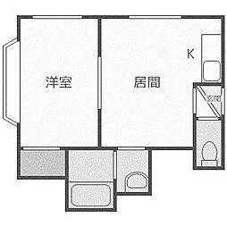 金盛マンション C棟[202号室]の間取り