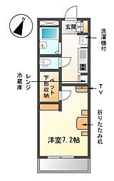 愛知県清須市須ケ口の賃貸マンションの間取り