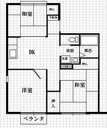 霜田コーポ[202号室]の間取り