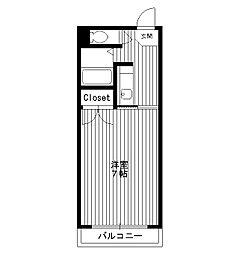 東京都板橋区向原の賃貸アパートの間取り