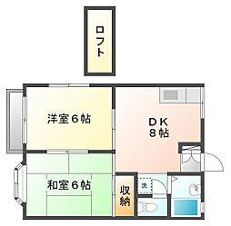 神奈川県川崎市幸区南加瀬3丁目の賃貸アパートの間取り