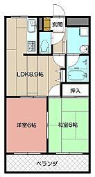 プライムガーデン[305号室]の間取り