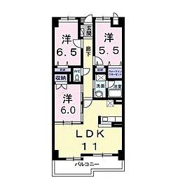 ゴールデン50[8階]の間取り