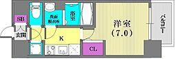 エスプレイス神戸ハーバーウエスト[6階]の間取り