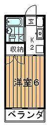 セイハイツI[1階]の間取り