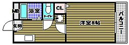 レディース金剛[2階]の間取り