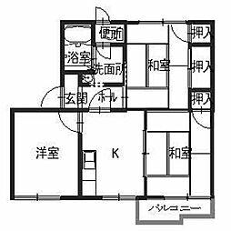 タウニィ神田[2階]の間取り