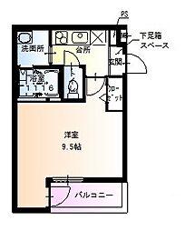 フジパレス堺北花田III番館[3階]の間取り