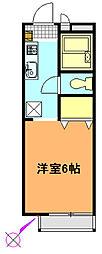 神奈川県横須賀市日の出町3丁目の賃貸アパートの間取り