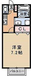 コーポナカムラ[203号室号室]の間取り