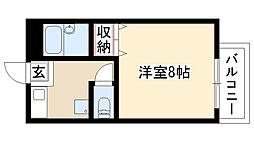 愛知県名古屋市昭和区小桜町1丁目の賃貸アパートの間取り
