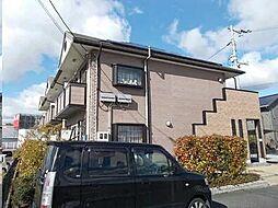 広島県福山市神辺町字十九軒屋の賃貸アパートの外観
