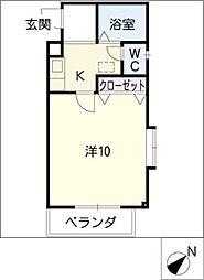 プラシードマンション横根[2階]の間取り