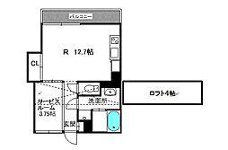 ハイディングプレイス東比恵[7階]の間取り