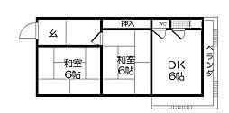 第一西本マンション[4階]の間取り