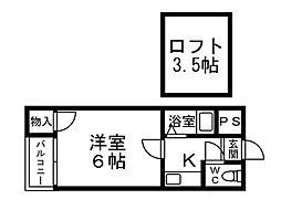 アート21下白水[2階]の間取り