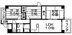 ラピュタクモン 横枕西 荒本8分[5階]の間取り
