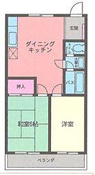神奈川県茅ヶ崎市平和町の賃貸アパートの間取り