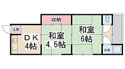 K`sハイム花屋敷[11号室]の間取り