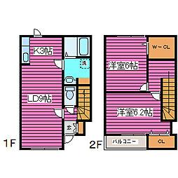 [タウンハウス] 北海道札幌市北区あいの里一条3丁目 の賃貸【/】の間取り