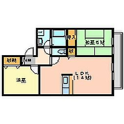 ジュネス武庫之荘IIIB棟[2階]の間取り