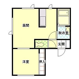 MY HOUSE[101号室]の間取り