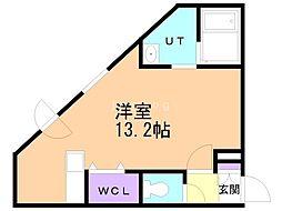 Premier-ist N.43 5階ワンルームの間取り
