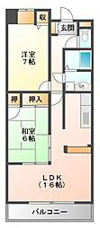 アライブ江坂II[4階]の間取り