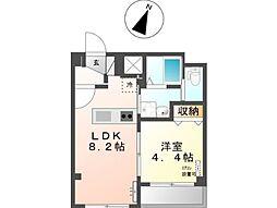 東京メトロ有楽町線 麹町駅 徒歩3分の賃貸マンション 3階1LDKの間取り