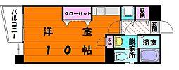 Kステーションプラザ八田[6階]の間取り