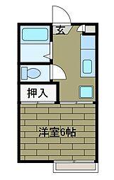 コーポエイト[1階]の間取り