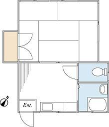 コーポ蘭苑[2階]の間取り
