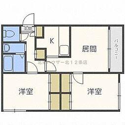 アーバンコート藤井[1階]の間取り