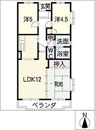 クレール桜田[2階]の間取り