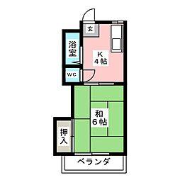 ハイツ須崎[1階]の間取り