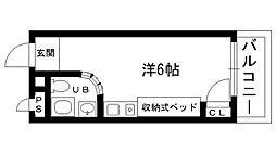 ピュアハウス甲子園[307号室]の間取り