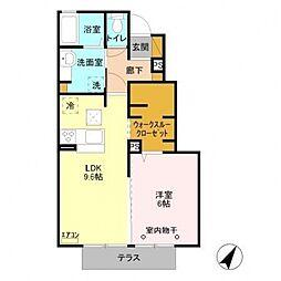 レスポワールアヤ[105号室号室]の間取り