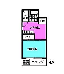 長谷川コーポ[2階]の間取り