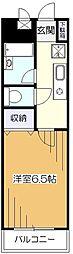 ボヌール金原[4階]の間取り