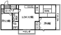 城南マンション 2[506号室]の間取り