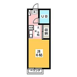 オゼットワールA[2階]の間取り
