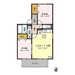 マーメゾン和田[2階]の間取り