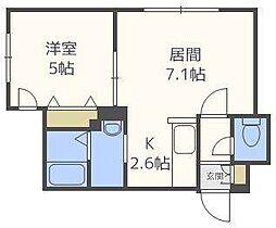 タカライーストプレイス[4階]の間取り