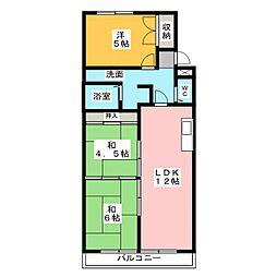 サンシティーマンション[2階]の間取り