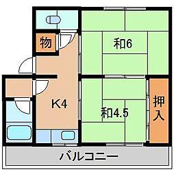美恵マンション[3階]の間取り